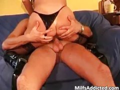 Busty brunette MILF fucked with lust