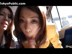 Japanese Bus Girls In Uniform - Public 180287