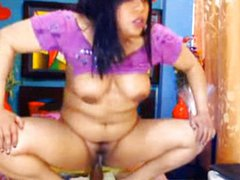 Nasty Latina Squirting & Toying Creamy Pussy