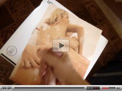Cumshot Tribute to hot porn magazine chicks
