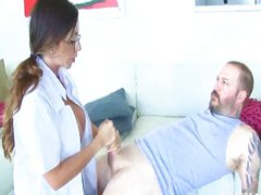 Busty Doctor Gives A Cock Treatment