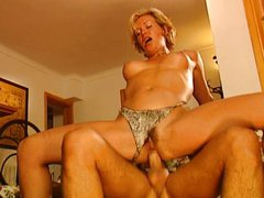 Kerstin Nieman -German MILF fucked by two guy
