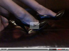 TV Rachels feet ff nylon stockings Heels cock