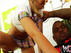 Chastity Lynn takes on black cocks