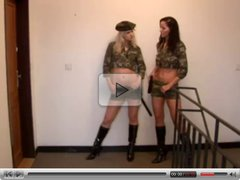 Two chicks in uniform fuck guy #236NT