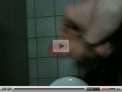 Masturbation and cum in public toilets