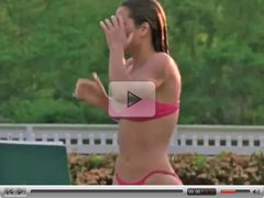 Jessica Biel - Summer Catch (Slow Motion & Zoom)