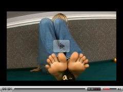Jasmine Rouge showing her sexy feet and body and gets off