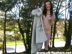 Sexy amateur teen Bryoni flashing in public