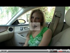 Hot Blonde Natalie Suck Cock In The Car