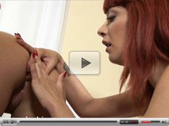 Bailey analing Nora with a huge strapon