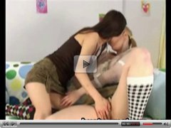 Catrina and Agnes on sizzling lesbian action