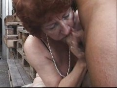 Beas Dumas - 2 Matures Gangbanged in Factory