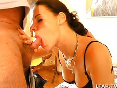 French amateur brunette gets anal fucked