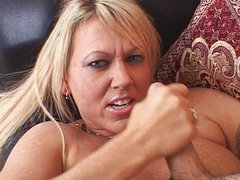 Horny MILF strokes your cock