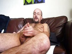 Hot Gay Daddy Jerking