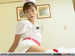 Sexy Japanese Girl Showing Nurse Outfit