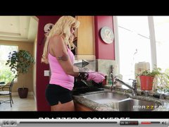 Brazzers - Blond MILF Alana Evans get revenge on her husband