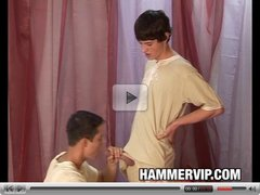 Bareback Twinks Enrico Cruz and Jack Reed Pajama Party