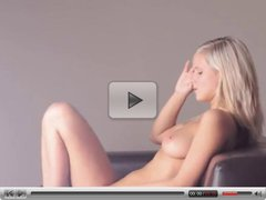 blonde teen toying