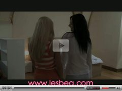 Lesbea Petite teen with mature woman