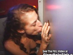 Alanna Swallows Loads in the Gloryhole