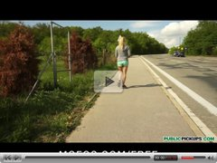 Public Pickups - SEXY blond Czech jogger has sex in the park