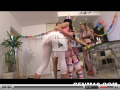 CFNM birthday party with real 18yo euro teens
