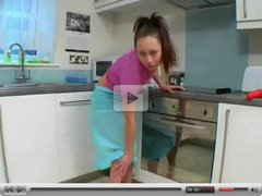 cute teen in the kitchen
