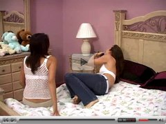 Two Teen Lesbians have Hot and Sensual Sex on Bed