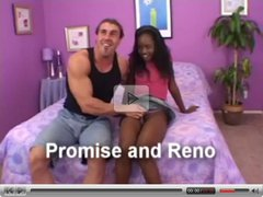 Hairy Ebony Teen and white man