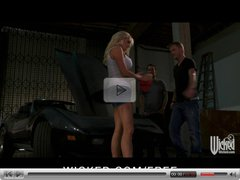 Wicked - Big-tit blonde MILF Stormy Daniels fucks on her car