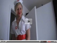 Beautiful Amateur Dressed as Nurse BJ to Completion