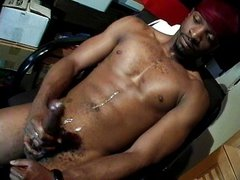 Thug stroking his BBC