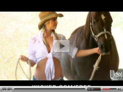 Wicked - HOT blonde cowgirl Mandy Armani rides big-dick