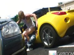 Gay amateurs caught fucking in public