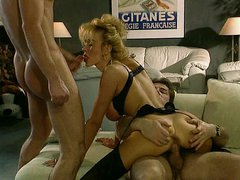 Dolly Buster - Beautiful Lady Fucked by 2 guy