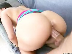 Massive boobs slut fucked by fake driver in the backseat