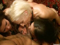 Horny girls gang fucked in sex club