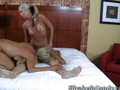 lucky guy gets a double woman room service