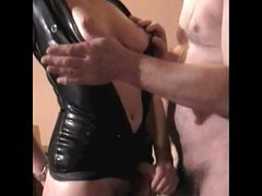Mrs B Latex 2 fuck titslap and handjob