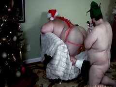 Fat Santa Bear Gets His Dick Sucked