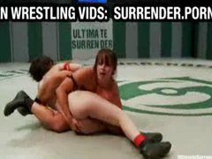 Two hot girls wrestling naked