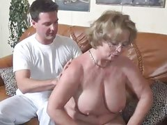 Huge Tits Wife sucking and fucking the husband039s best friend