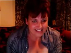 English Milf With Big Tits Plays On Webcam