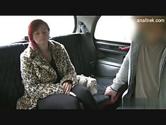 Fucking a hottie in the fake taxi