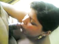 Indian Aunty Sucking Black Dick