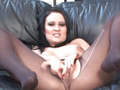 Amber Leigh Getting Horny and Masturbating in Stockings 2