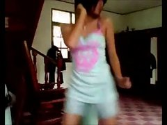 Asian Teen Dance At Home