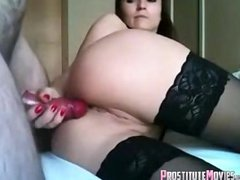 Hot wife gets ass fucked in her lin